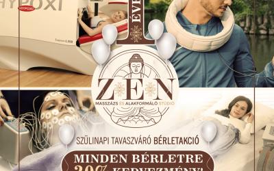 🎂 Szülinapi tavaszváró, felfrissítő BÉRLET AKCIÓ az 1 éves Zen Masszázs és Alakformáló Studióban! 🌿